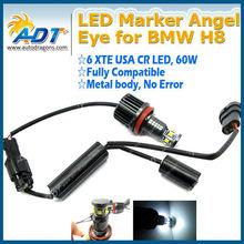 60W USA CR LED Angel Eye Halo Ring Light No Error H8 FOR BMW E92 328i 335i E93 E89 Z4