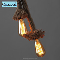 Decorative Hand-Weaved Hemp Rope Pendant North Lighting Lamp