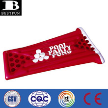 promotional custom made pvc inflatable red cup pool party pong float beer pong table
