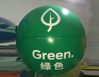 3m advertising green Hot air Balloon shape inflatables