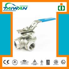 Taiwan Direct Mounting Pad 4 inch 3 way ball valve, 90 degree 3 way ball valve, 3 way ball valve price