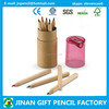 """3.5"""" 12 Drawing Nature Wood Color Pencil in Tube with EN71/ASTM"""