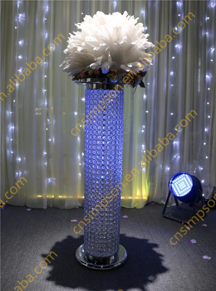 Tall Metal Centerpiece Stands : Tall wedding crystal pillar stand flower