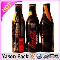 Yason pvc shrink label manufacture for ice black tea pvc shrink lables 30u heat shrink sleeves for bottles