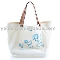 Chrismas canvas shopping bag(Canton fair ket product)