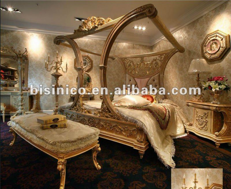 Lusso europeo in stile francese da letto a baldacchino mobili set moq 1set b23826 letto id - Mobili stile francese ...