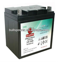 Excellent qualtiy AGM Lead acid battery for Alarm system use 12v 24ah