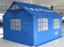 Relief tent (3.7x3.2x1.75x2.67m, polyester oxford fabric, frame structure)
