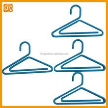 Decorative cloth hanger shape plastic coated metal paper clips
