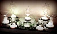 Holiday Lighting 6 Inch 3AA Battery Powered Multi-colors Round RGB Decorative LED Vase Light Base