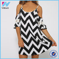 Yihao 2015 Ladies New Designs Clothes Sexy Strap Stripe Beach Mini Dress Summer Fashion Plus Size Hot Casual Dresses For Women