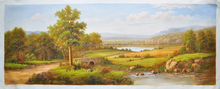 2015 Hand painted beautiful natural scenery art painting