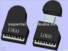 The newest ,2012 fashion pvc piano usb flash drive 2GB 4GB 8GB 16GB 32GB customize logo piano shaped usb memory
