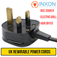 Power cord for Flat Iron, Rice Cooker, Electric Grill, High quality low price BS approval rewirable