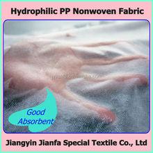 Hydrophilic Nonwoven Fabric for Diaper
