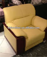 leather office sofa/one seat sofa