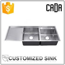europ modern kitchen designs good quality double bowl kitchen sink with drainboard