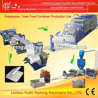 Fully automatic take away food container and hamburger box vacuum forming machine for ps