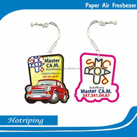Scent card with perfume China promote printing air freshener