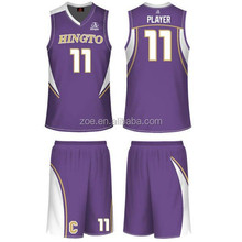 Reversible 100%polyester dry fit fabric basketball jersey/wholesale customized team sublimation basketball uniform