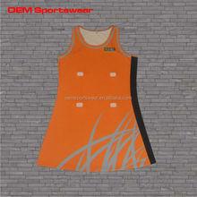 custom cheap 100%polyester woman sexy netball dresses