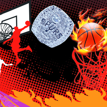 Fashion Jewellery Customized Design Professional Basketball Champion Symbol Men'S Ring