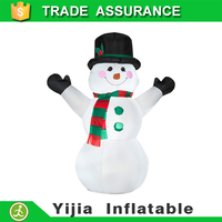DHL free ship 6ft inflatable Snowman with scarf for Christmas outdoor decor