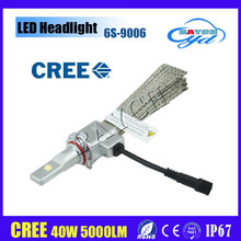 Hot selling auto LED headlight 9006 40W, all-in-one, super brightness, easy to install