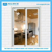 Double sided heat insulation aluminum sliding doors for kitchen