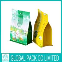 eight-side flat bottom custom print food packaging for wholesale