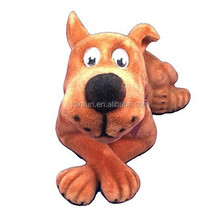 Custom puppy dog bobble head,Plastic shaking head toy dog bobble head, Make bobble head dog with moving head