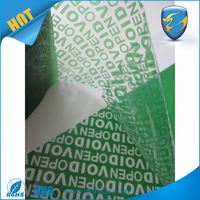 Tamper evident self adhesive green security void open tape for packaging
