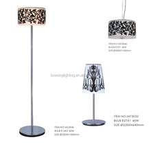 Quality promotional pattern wooden floor lamp