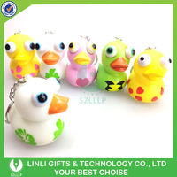 2015 Hot Advertising Animal Shape Eyes Pop Out Keychain For Kids
