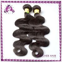 Grade 5a Single Drawn brazilian hair in guangzhou