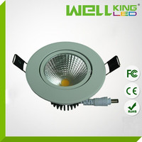 Hot sales 10w 3 inch high bright COB recessed led ceiling light