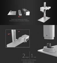 Portable Fiber Laser Machine for Metal Marking Logo Support laptop