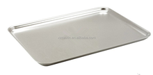 Aluminum matieral baking tray for bread, bread tray, serving tray