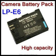 Lp-e6 cámara Canon EOS 5D Mark II EOS 60D EOS 7D eléctrica 18650 batería de la cámara