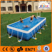 0.9mm pvc best selling adult frame swimming pool used adult inflatable water park made in china