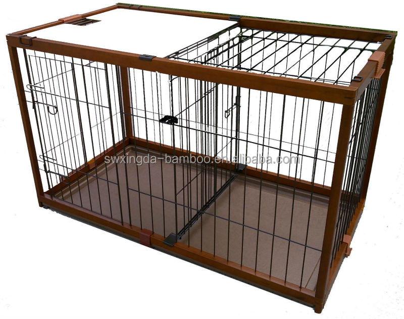 Bambou écologique cages pour animaux de compagnie chien chenil