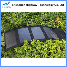 14W 6.5V customized foldable solar panel charger for camera, mobiles, mp3, audio