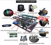 2014 newest hydraulic system 9 seat 5d cinema 7 d