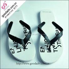 Comfortable women summer cheap wholesale cheap rubber white flip flops