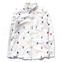 Latest fashion custom printed oxford mens business dress shirts