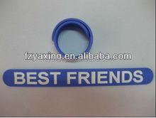 cheap promotional gift sports printed silicone reflective slap bracelet