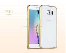 New arrival ultrathin double color metal bumper For Samsung Galaxy S6