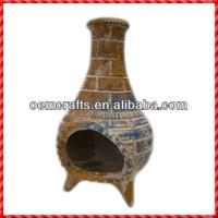 High quality handmade outdoor Mexico Clay Chimenea
