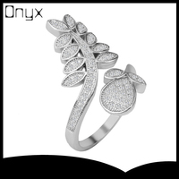 925 sterling pine tree leaf and pine cone silver ring open ended design