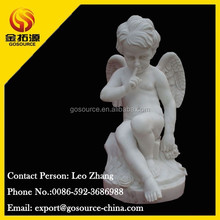 white marble baby angel statue for garden